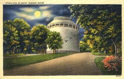 Stand Pipe - Bangor, Maine ME Postcard