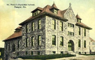 St. Mary's Parochial School - Bangor, Maine ME Postcard