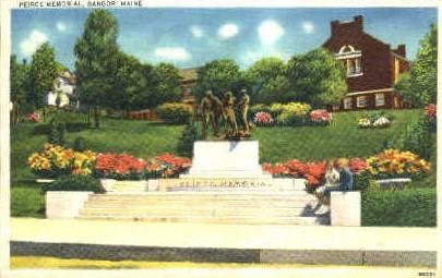 Peirce Memorial  - Bangor, Maine ME Postcard