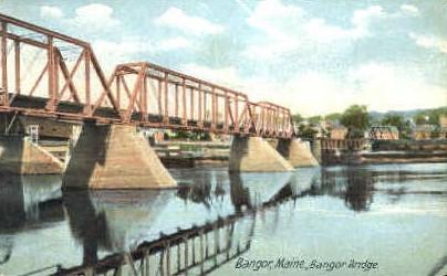 Bangor Bridge - Maine ME Postcard