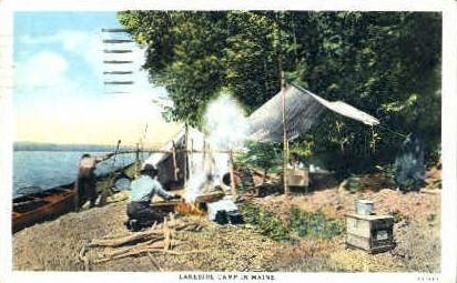 Lakeside Camp - Bangor, Maine ME Postcard