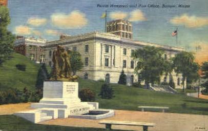 Peirce Memorial & Post Office - Bangor, Maine ME Postcard