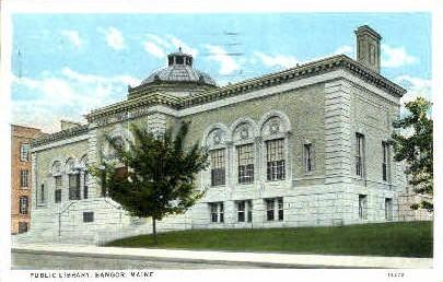 Public Library - Bangor, Maine ME Postcard