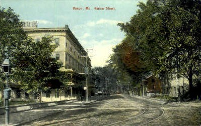 Harlow St. - Bangor, Maine ME Postcard