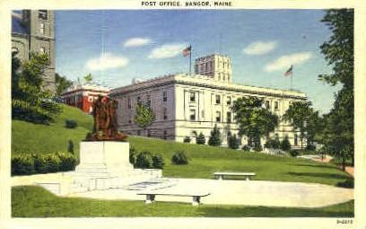 Post Office - Bangor, Maine ME Postcard