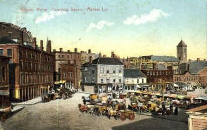 Pickering Square - Bangor, Maine ME Postcard