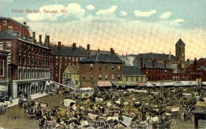 Public Market - Bangor, Maine ME Postcard