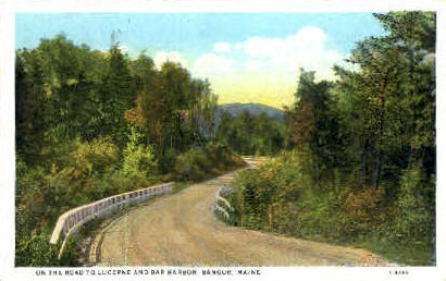 Road - Bangor, Maine ME Postcard