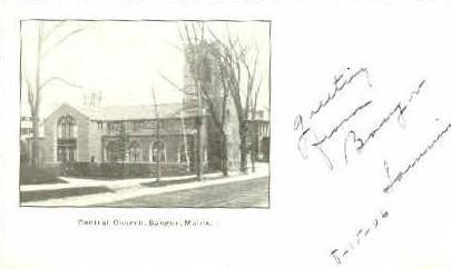 Central Church - Bangor, Maine ME Postcard