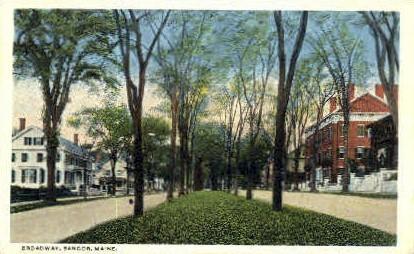 Broadway - Bangor, Maine ME Postcard