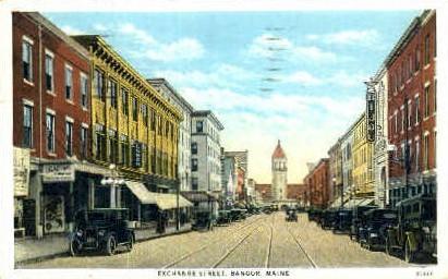 Exchange St. - Bangor, Maine ME Postcard
