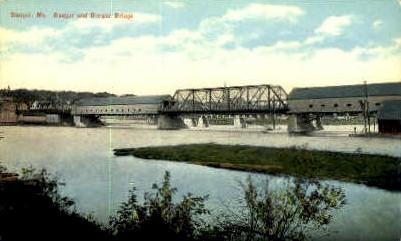 Bangor & Brewer Bridge - Maine ME Postcard