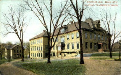 High & Manual Training School - Bangor, Maine ME Postcard