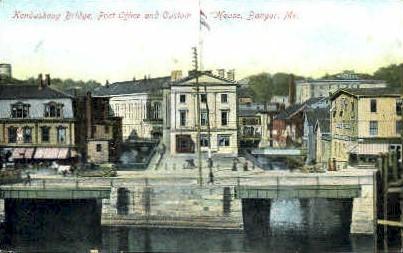 Kenduskeag Bridge - Bangor, Maine ME Postcard