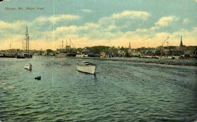 Water Front - Bangor, Maine ME Postcard