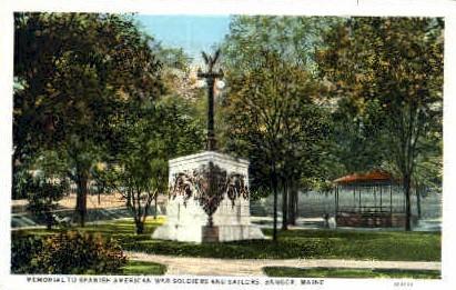 Memorial to Spanish American War - Bangor, Maine ME Postcard