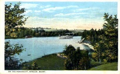 On the Penobscot - Bangor, Maine ME Postcard