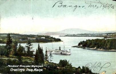 Penobscot River - Bangor, Maine ME Postcard