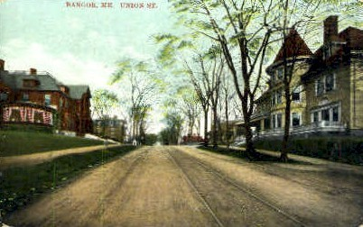 Union St. - Bangor, Maine ME Postcard
