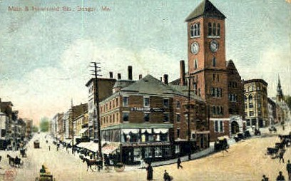 Main & Hammond Sts. - Bangor, Maine ME Postcard