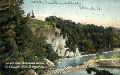Lovers Leap - Bangor, Maine ME Postcard