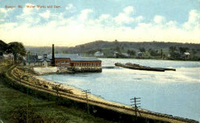 Water Works & Dam - Bangor, Maine ME Postcard