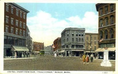 Central St. - Bangor, Maine ME Postcard