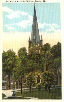 St. Mary's Catholic Church - Bangor, Maine ME Postcard