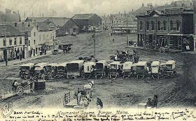 Haymarket Square - Bangor, Maine ME Postcard