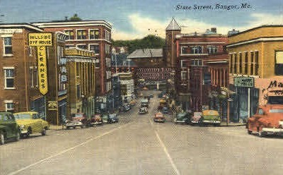 State St. - Bangor, Maine ME Postcard