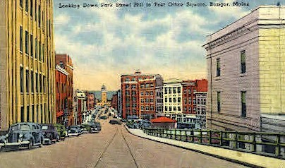 Park St. - Bangor, Maine ME Postcard