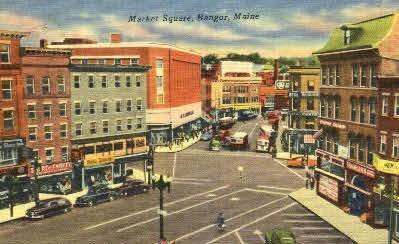 Market Square - Bangor, Maine ME Postcard