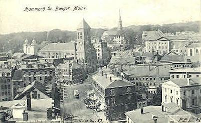 Hammond St. - Bangor, Maine ME Postcard