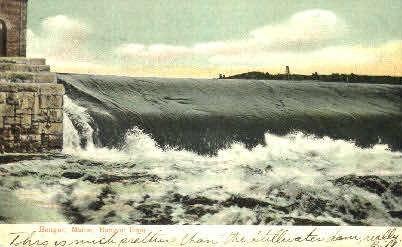 Bangor Dam - Maine ME Postcard