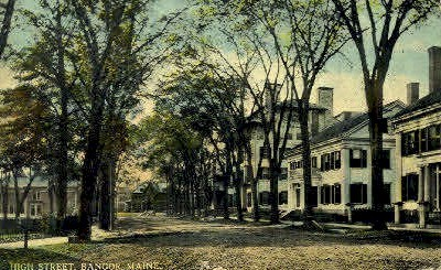 High St. - Bangor, Maine ME Postcard