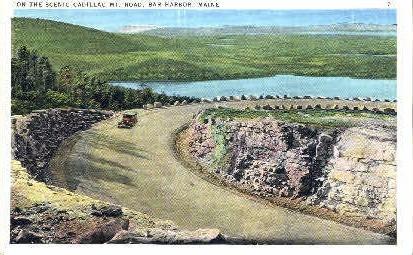 Cadillac Mt. Road - Bar Harbor, Maine ME Postcard