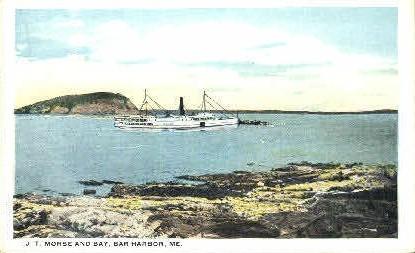 J.T. Morse & Bay - Bar Harbor, Maine ME Postcard