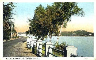 Along the Bluffs - Bar Harbor, Maine ME Postcard