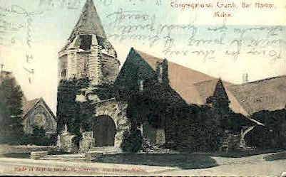 Congregational Church - Bar Harbor, Maine ME Postcard
