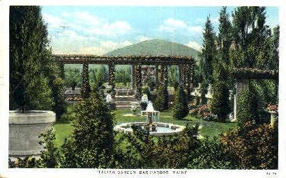 Italian Garden - Bar Harbor, Maine ME Postcard