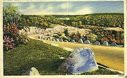 Mt. Road - Bar Harbor, Maine ME Postcard