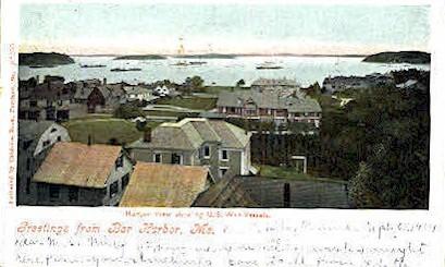 Harbor - Bar Harbor, Maine ME Postcard