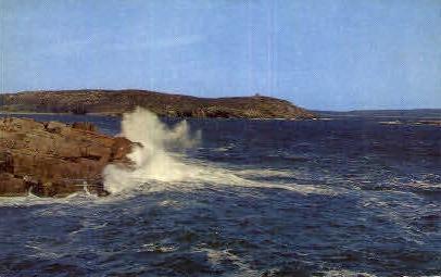 High Surf - Bar Harbor, Maine ME Postcard