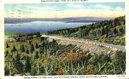 Cadillac Mountain Summit Road - Bar Harbor, Maine ME Postcard