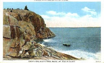 Great Head - Bar Harbor, Maine ME Postcard
