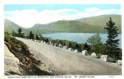 Eagle Lake - Bar Harbor, Maine ME Postcard