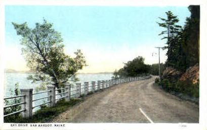 Bay Drive - Bar Harbor, Maine ME Postcard