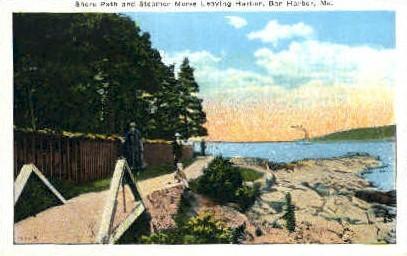 Shore Path - Bar Harbor, Maine ME Postcard