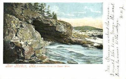 Anemone Cave - Bar Harbor, Maine ME Postcard