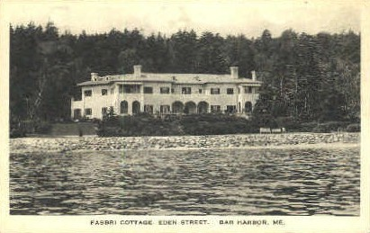 Fabri Cottage, Eden St. - Bar Harbor, Maine ME Postcard